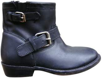 Ash Leather buckled boots