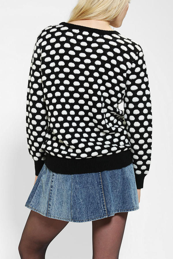 Urban Outfitters Coincidence & Chance Textured Dot Sweater