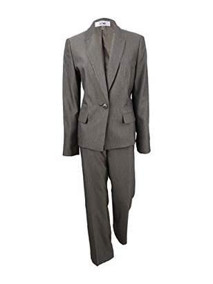Le Suit Women's Stripe 1 Button Notch Lapel Pant
