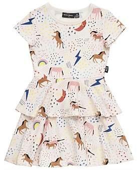 cbdb96ff0614c Rock Your Kid Unicorn Rainbow S/S Tiered Dress
