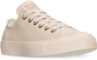 Converse Women's Chuck Taylor Pastel Leather Ox Casual Sneakers from Finish Line $69.99 thestylecure.com