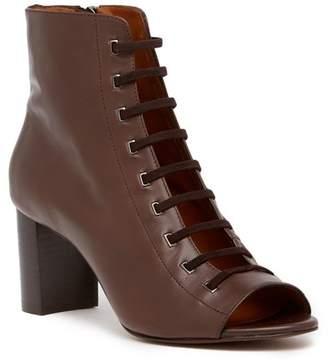 Aquatalia Stefania Leather Open Toe Bootie