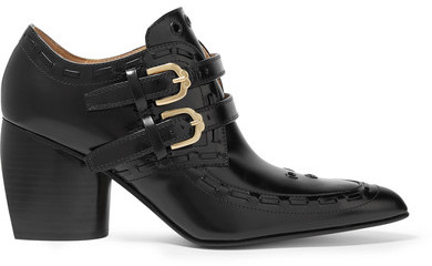 JOSEPHJoseph - Eyelet-embellished Glossed-leather Ankle Boots - Black