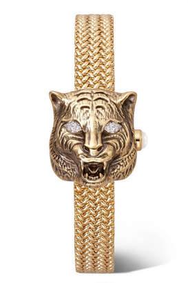 Gucci Le Marché Des Merveilles Secret 8mm 18-karat Gold, Diamond And Mother-of-pearl Watch