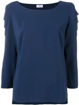 Akris Punto scalloped sleeve blouse