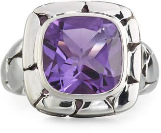 John Hardy Batu Kali Square Amethyst Ring, Size 7