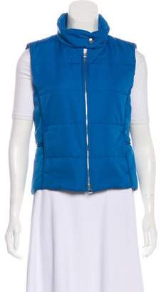 Hermes Quilted Stand Collar Vest