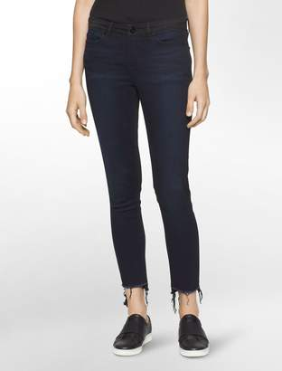 Calvin Klein ultimate skinny colorblock ankle jeans