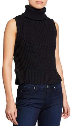 Derek Lam 10 Crosby Sleeveless Chunky Turtleneck Sweater w  Buttons 0915cac07