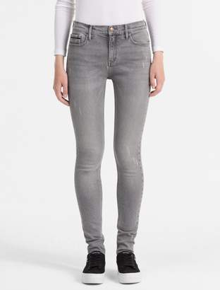 Calvin Klein skinny fit high rise faded grey jeans