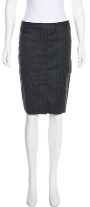Saint Laurent Wool Knee Length Skirt