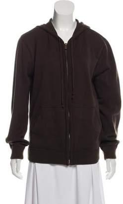 Michael Kors Rib Knit Zip-Up Sweater
