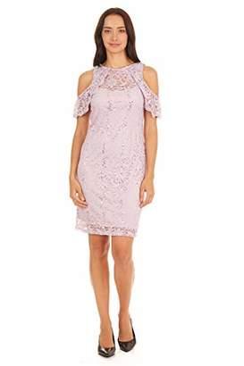 Tiana B Women's Sequin lace Cold Shoulder Dress