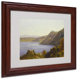 "Albano Antoine Joinville 'The Lake' Matted Framed Art - 14"" x 11"""