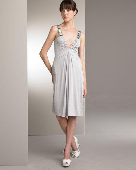 Alberta Ferretti Mop-Taupe Dress