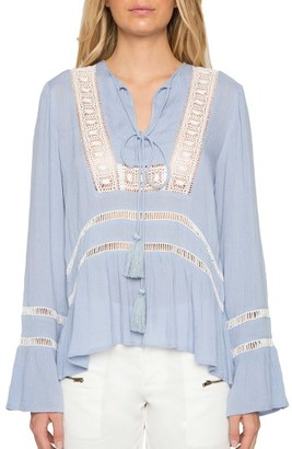 Women's Willow And Clay Crochet Peasant Blouse $79 thestylecure.com