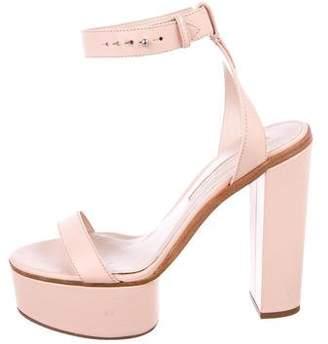 Ermanno Scervino Leather Platform Sandals