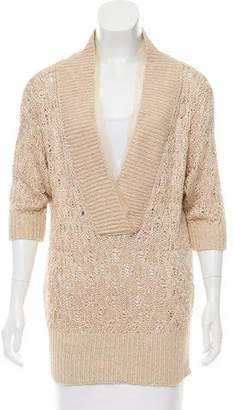 Alessandro Dell'Acqua Metallic Knit Sweater