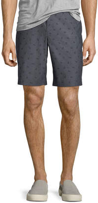Original Penguin Straight-Fit Bicycle-Print Cotton Shorts