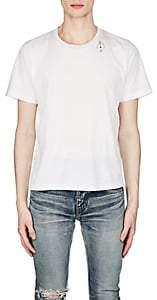 Saint Laurent Men's Playing Card Cotton T-Shirt - White