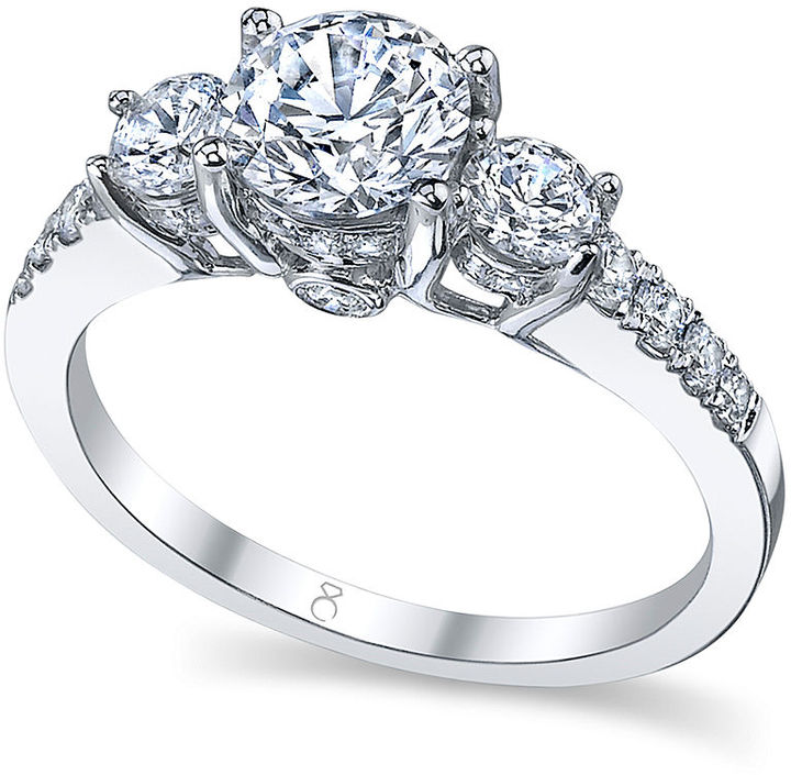 My Diamond Story Ring, 18k White Gold Certified 3-Stone Diamond Engagement Ring (1-3/4 ct. t.w.)