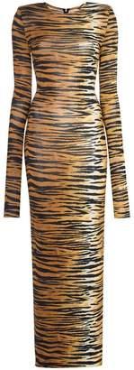 Alexandre Vauthier tiger print jersey dress