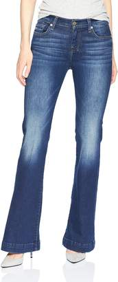 7 For All Mankind Women's Dojo Trouser Leg Jean