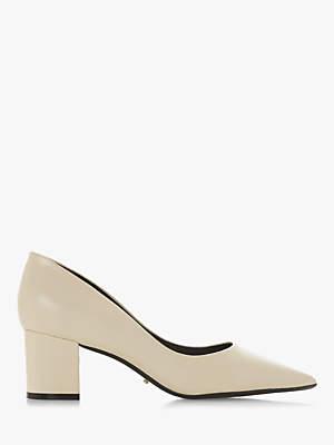 Dune Arve Block Heel Pointed Court Shoes