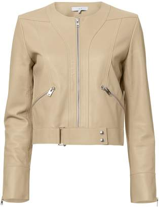 IRO Sweep Collarless Leather Jacket