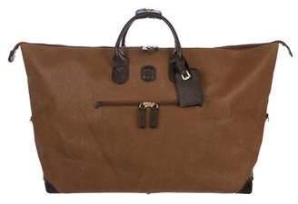 Bric's Embossed Suede Weekender Bag