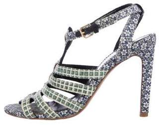 Tory Burch Woven Cage Sandals