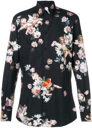 Dolce & Gabbana floral cherub-print shirt