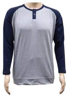 SPECIEN Adult Long-Sleeve Color-Blocking Henley Jersey T-shirt 60% Cotton / 40% Polyester, 180g / 6 oz