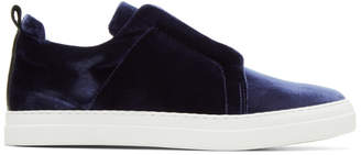 Pierre Hardy Blue Velvet Slider Slip-On Sneakers