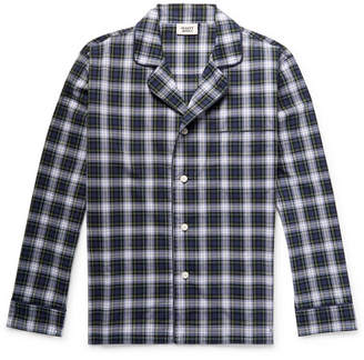 Sleepy Jones Lowell Checked Cotton-Poplin Pyjama Shirt
