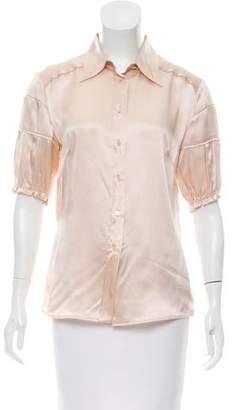 Miu Miu Silk Button-Up Top