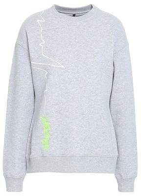 Versace Embroidered Printed French Cotton-terry Sweatshirt