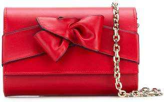 Casadei bow clutch bag
