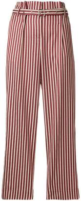 Giorgio Armani high-waisted striped trousers