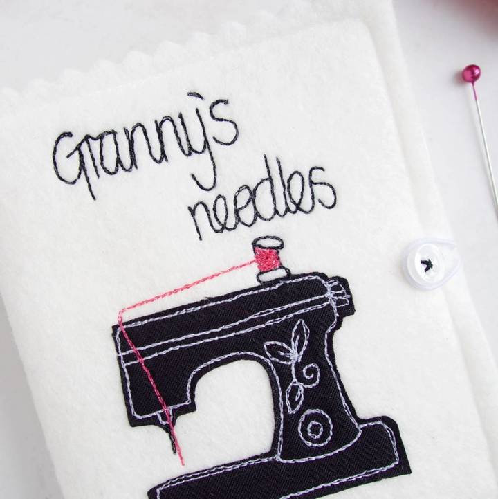 rosiebull designs Personalised Sewing Machine Needle Case