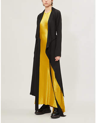 Ann Demeulemeester Cutout-Back Satin Dress