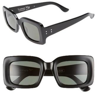 Women's Raen X Alex Knost Luxury Wig Flatscreen 49Mm Square Sunglasses - Black $150 thestylecure.com