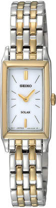Seiko Womens Two-Tone Stainless Steel Solar Bracelet Watch SUP028