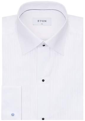 Eton Pleated Cotton Shirt