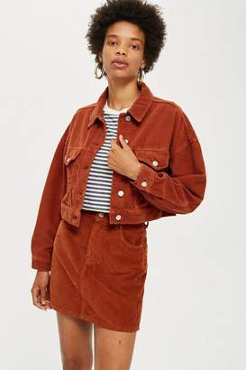 Topshop Rust Corduroy Jacket
