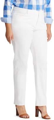 Chaps Plus Size Twill Midrise Straight-Leg Pants