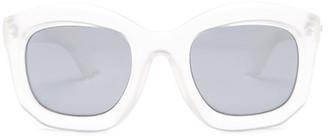 MINKPINK Women's Crowd Pleaser Polycarbonate Frame Sunglasses $45 thestylecure.com