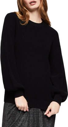 BCBGeneration Oversized Waffle Knit Cotton Sweater