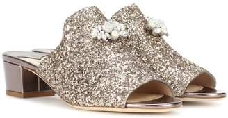 Jimmy Choo Myla embellished glitter mules