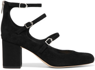 Sam Edelman - Calista Suede Pumps - Black $150 thestylecure.com